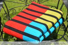 Spicy Sticks - A simple striped quilt for mom. By Latifah Saafir
