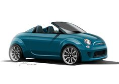 Fiat Abarth 500 Roadster Car Concept by Madeindreams Studio