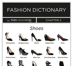 There is a wide variety of shoes to choose from. If you're one of those that don't know your Mule from your Stiletto this infographic is made for you.