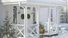 Black and White Swedish Home
