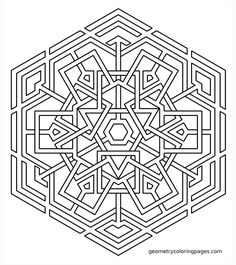 Coloring Page, Celtic Snowflake   Sacred Geometry