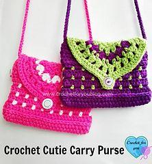 letsjustgethooking : Cutie Carry Purse# free #crochet pattern link here