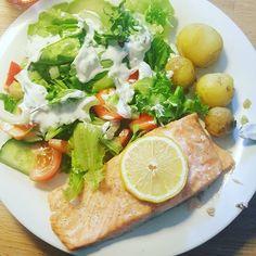 #sundfrokost #livsstilændring #vægttab #vægttab2016 #fisk #grønsager #sommermad #laks #summertime