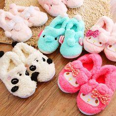 特 3双包邮 可爱小象|熊猫冬季包跟可外穿家居棉拖鞋