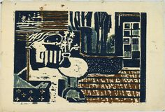 """Louise Bourgeois. Dream. 1939. Version 1 of 2, state VIII of X. Woodcut, with hand additions. composition: 9 15/16 x 14 1/8"""" (25.2 x 35.9 cm); sheet: 11 15/16 x 17 1/2"""" (30.3 x 44.5 cm). unpublished. the artist. 1 known impression of version 1, state VIII. Not numbered. Gift of the artist. 230.1992.8. © 2016 The Easton Foundation/Licensed by VAGA, NY. Drawings and Prints"""