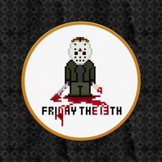 Friday The 13th Cross Stitch PDF Pattern Download. $4.00, via Etsy.