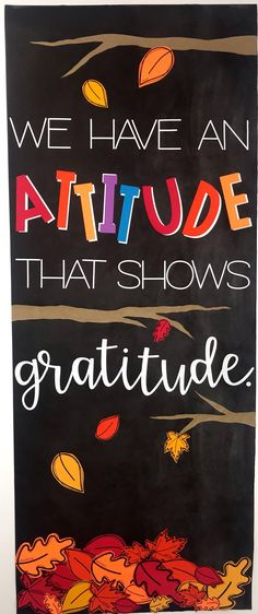 This classroom door / bulletin board display is a great way to talk about gratitude with our classroom kiddos. It's a great reminder that we always have something to be thankful for. If we forget, the leaves have words that remind us of some of those things. Thanksgiving Classroom Door, Fall Classroom Door, Thanksgiving Bulletin Boards, Halloween Bulletin Boards, Classroom Themes, November Bulletin Boards, Winter Bulletin Boards, Library Bulletin Boards, Bulletin Board Display