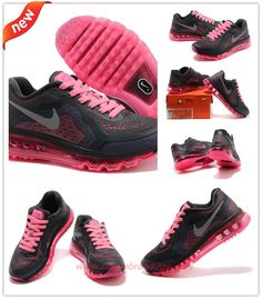 new concept b9ea4 1087c Womens Black Pink-Red Nike Air Max 2014 521078-026 For Wholesale Nike