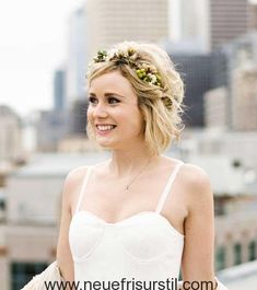 40 Wedding Hairstyles for Short to Mid-Length Hair Prom Hairstyles For Short Hair, Trending Hairstyles, Boho Hairstyles, Vintage Hairstyles, Beautiful Hairstyles, Mid Length Hair, Short Wedding Hair, Short Haircut, Updo