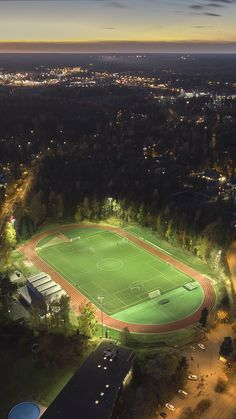 See the big picture on my site; a twilight photo from urban southern Finland. Messi Soccer, Soccer Stadium, Football Stadiums, Football Soccer, Soccer Drills, Real Madrid Football Club, World Football, Football Pitch, Football Field