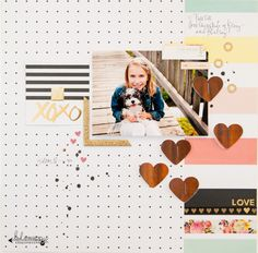 Midwestern Girl: love...a layout - Hello Gorgeous! Heidi Swapp