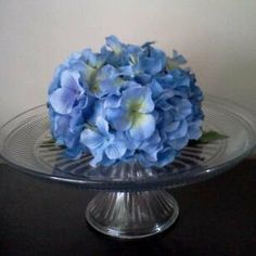 Wedding Cake Topper or Table Centerpiece Blue Hydrangea on Etsy, $25.00