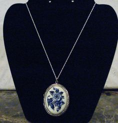 Vintage Blue and White Floral Design Porcelain by AAAJEWELRYSTORE, $34.99