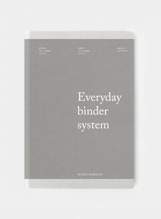 Everyday binder – Supply Paper Co. - Everyday binder – Supply Paper Co. - Everyday binder – Supply Paper Co. – Everyday binder – Supply Paper Co. Profolio Design, Page Layout Design, Japan Design, Book Layout, Print Design, Book Cover Design, Book Design, Portfolio Cover Design, Brochure Layout