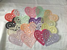 10  Filigree Heart Shaped PAPER Doilies - *** MULTIPLE LISTINGS ***  [Pale Peach]
