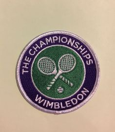 The Championships Wimbledon Cloth Woven Badge Patch Sew On (Camp Blanket)  | eBay