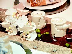 Weihnachtliche Deko mit Orchideen