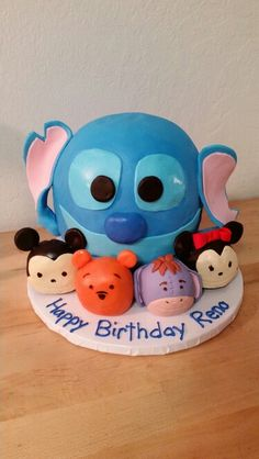 Tsum Tsum style birthday cake.