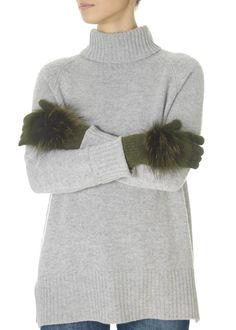 These are the Khaki Green Fur Pom Gloves by our own brand ' They feature a sweet fur pom and soft feel. These gorgeous gloves will add a. Green Fur, Khaki Green, Green Gloves, Fur Pom Pom, Green Fabric, Beanie Hats, Winter Hats, Turtle Neck, Knitting