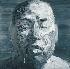 'Self-portrait (Mars)', oil on canvas painting by Yan Pei-Ming, 2000, National Gallery of Australia