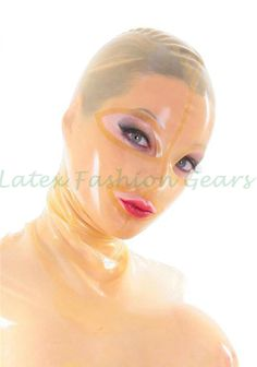 >> Click to Buy << Transparent  latex fetish hood mask rubber headgear sexy costumes custom made #Affiliate