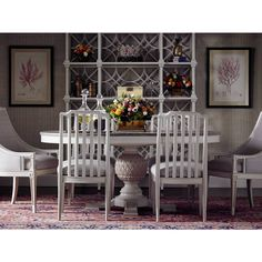 Chinese Chippendale styling gives a Botany Etagere unmatched grace and presence. | Stanley Furniture