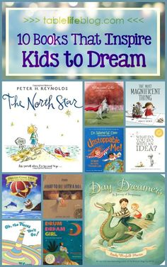 10 Books That Inspire Kids to Dream Looking for ways to inspire kids to dream big? Good news: today I'm sharing my list of lovely children's books to enjoy with your favorite dreamers. Best Children Books, Childrens Books, Books For Kids, Toddler Books, Book Suggestions, Book Recommendations, Good Books, Books To Read, Baby Book To Read
