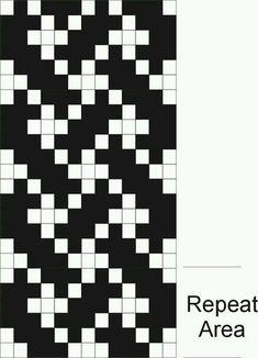Celtic Knotwork Pick-up Graph Inkle Weaving Patterns, Bead Loom Patterns, Loom Weaving, Beading Patterns, Knitting Charts, Loom Knitting, Knitting Stitches, Knitting Patterns, Art Du Fil