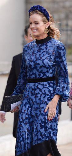 5054fa92c5b2 Cressida Bonas wearing the Tory Burch Leah dress to Princess Eugenie and  Jack Brooksbank s royal wedding