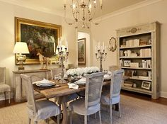 There is a LIKE button but if there was a LOVE button on Pinterest... I would have clicked that one cuz I love this dining room!