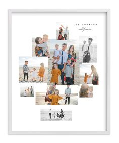 """""""Mod Collage"""" - Custom Photo Art Print by Leah Bisch in beautiful frame options and a variety of sizes. Collage Foto, Photo Collage Gift, Family Photo Collages, Family Collage, Photo Art, Photo Collage Design, Wall Collage Decor, Collage Frames, Wall Art Prints"""