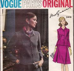 60s MOLYNEAUX Skirt & Jacket Pattern Vogue by allthepreciousthings, $65.00