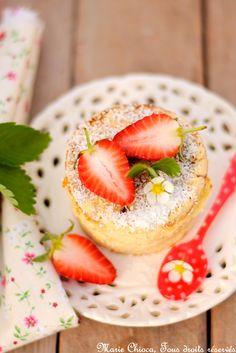 Petits moelleux aux fraises à IG très bas