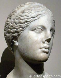 Venus Cnidia de Praxíteles. Copia romana del busto