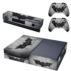 DC Batman Symbol Logo Decal Skin Sticker for Microsoft Xbox One Kinect and Console and 2 Controllers Vinyl Game Stickers #Affiliate