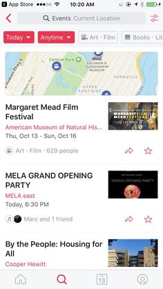 Events from Facebook - Find things to do near you Design Patterns - Pttrns