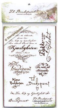 © Stempelglede® Til brudeparet. Umontert stempelplate.  http://www.stempelglede.com/stemplerbrud.html