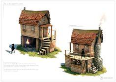 ArtStation - Blacksmith Cabin, Gerard Dunleavy