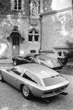 Lamborghini Flying Star and Ferrari 365 Shooting Brake.