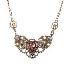 Charme Mode Punk Bijoux Vintage Fleur Col C imitation perle pendentifs