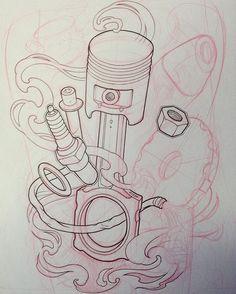 Tattoo sketching #draw #drawing #sketch #ink #illustration #tattoo #tattooflash…