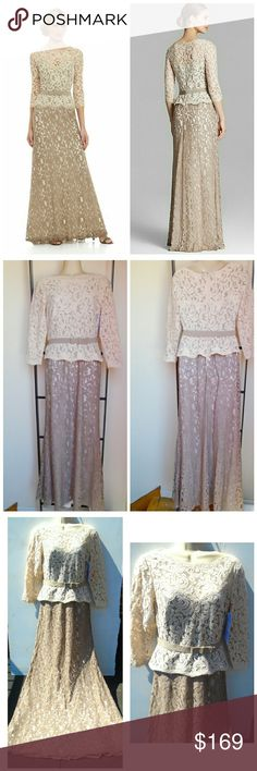 NWT! MOTHER OF THE BRIDE TWO TONE LACE GOWN SZ 6 NWT! REDUCED TO SELL PRICE!! GORGEOUS IVORY & BEIGE TWO TONE LACE LONG SLEEVE MOTHER OF THE BRIDE GOWN SIZE 6 ADRIANNA PAPELL  MSRP  $229.00 at NORDSTRAMS  BUY NOW OR BUNDLE AND SAVE  WE LOVE OFFERS!  SUGGESTED SELLER  SAME DAY SHIPPING Adrianna Papell Dresses