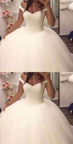 OFF THE SHOULDER BALL GOWN WEDDING DRESSES,BRIDAL GOWN, 2017 BALL GOWN WEDDING DRESSES, DRESSES FOR BRIDAL, ELEGANT PROM DRESSES,361