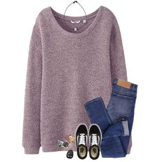 A fashion look from January 2018 featuring Uniqlo sweaters, Cheap Monday jeans and Vans sneakers. Browse and shop related looks.