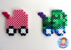 Kinderwagen van strijkkralen, thema baby voor kleuters, Kindergarten craft, pram hama beads, kleuteridee