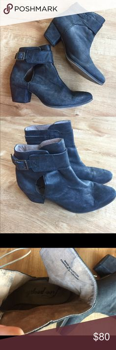 Free people black buckle booties free people black nubuck leather buckle booties! Super cute and worn a couple of times.  great condition and super cute ankle cutout Free People Shoes Ankle Boots & Booties