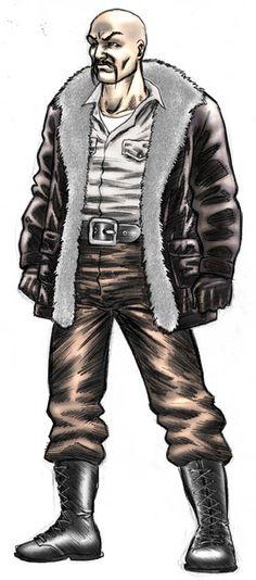 "Crimson Skies HRTR, character concept for Jonathan ""Genghis"" Khan"