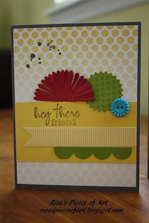 SU My Paper Pumpkin welcome kit card Stampin' Up!