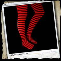 7,00e Raitasukkahousut -Musta/punainen