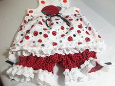 Hey, I found this really awesome Etsy listing at https://www.etsy.com/listing/195393681/ladybug-baby-girl-summer-clothes-sun-top